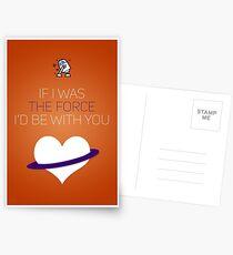 If I Was The Force I'd Be With You - Star Wars Love Postcards