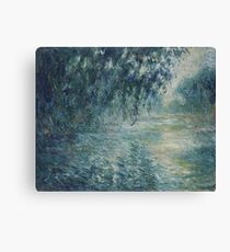 Claude Monet - Morning on the Seine Canvas Print