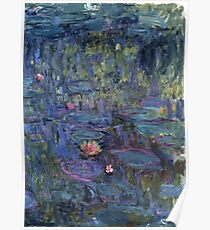 Claude Monet French Impressionism Oil Painting Waterlilies Poster