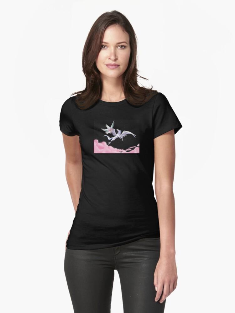 Pegasus winged unicorn - sailor cartoon Womens T-Shirt Front