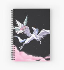 Pegasus winged unicorn - sailor cartoon Spiral Notebook