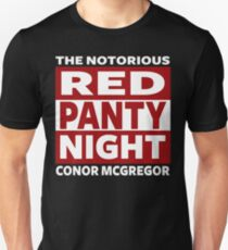 Conor Mcgregor, Red Panty Night Unisex T-Shirt