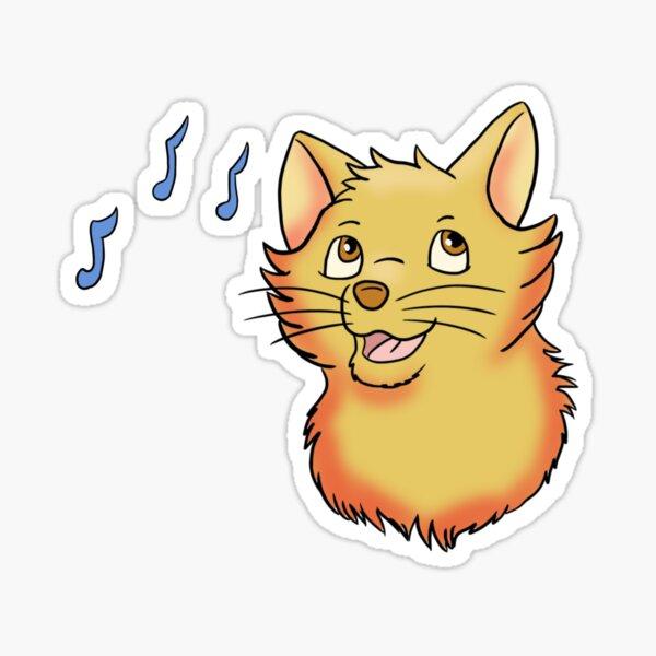 Singing Hopeful Yellow Cat Sticker