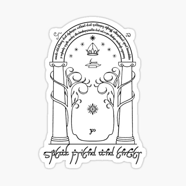 Speak Friend & Enter (Door of Moria) Sticker