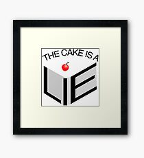The Cake Is A Lie Framed Print