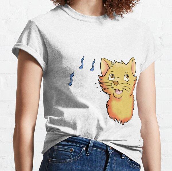 Singing Hopeful Yellow Cat Classic T-Shirt