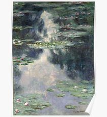 Claude Monet - Pond with Water Lilies (1907)  Impressionism Poster