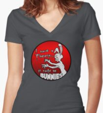 I have a theory; it could be bunnies. Women's Fitted V-Neck T-Shirt