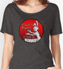 Camiseta ancha Tengo una teoría; podrían ser conejos.
