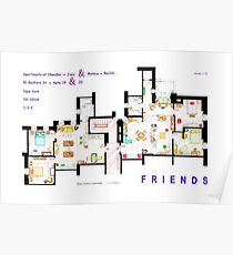 FRIENDS Apartment's Floorplans - V.2 Poster