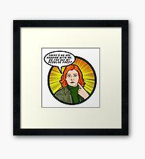 Resolve face. Your argument is invalid. Framed Print