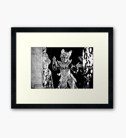 Balinese Kecak Dancer Framed Print