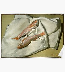 Claude Monet - Red Mullets,  Impressionism Poster