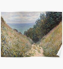 Claude Monet - Road at La Cavée  Pourville  Poster