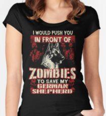 German Shepherd Dog-Zombies Women's Fitted Scoop T-Shirt