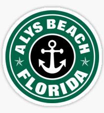 ALYS BEACH, FLORIDA COFFEE STYLE STICKER Sticker