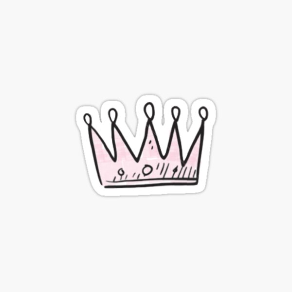 Pink Princess Crown Sticker