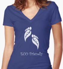 eco friendly  Women's Fitted V-Neck T-Shirt