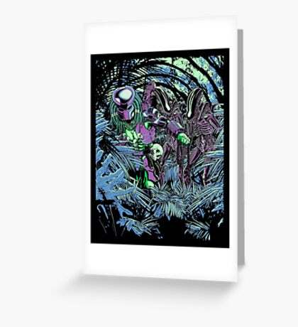Welcome to the jungle. (neon) Greeting Card