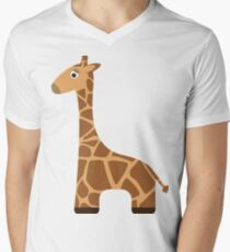 Cute cartoon giraffe Men's V-Neck T-Shirt