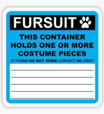 Fursuit HazMat Sticker (version 2) Sticker