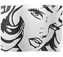 black and white girl  Poster