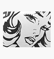 black and white girl  Photographic Print