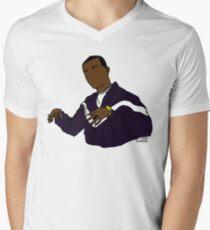Ich bin BROKE BABY (ABA) T-Shirt mit V-Ausschnitt für Männer