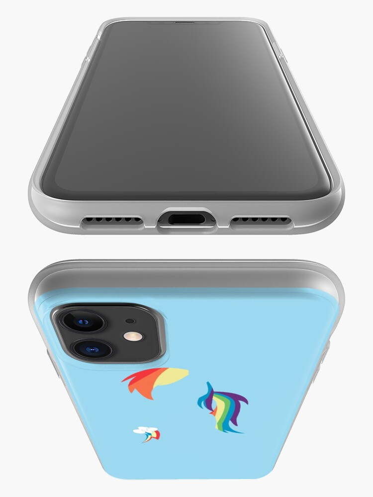 Alternate view of Rainbow Dash Silhouette Color Block iPhone Case & Cover