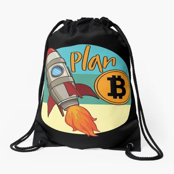 Bitcoin. Plan B and Crypto Drawstring Bag