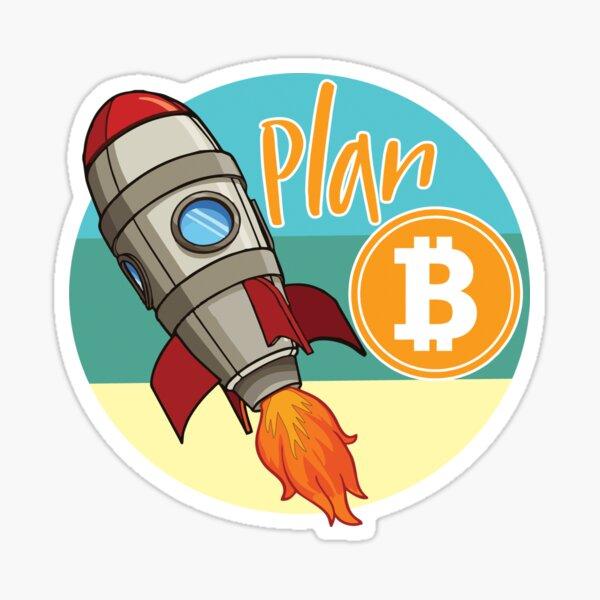 Bitcoin. Plan B and Crypto Sticker