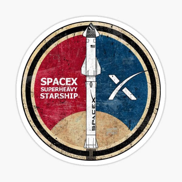 SpaceX SuperHeavy-Starship Sticker