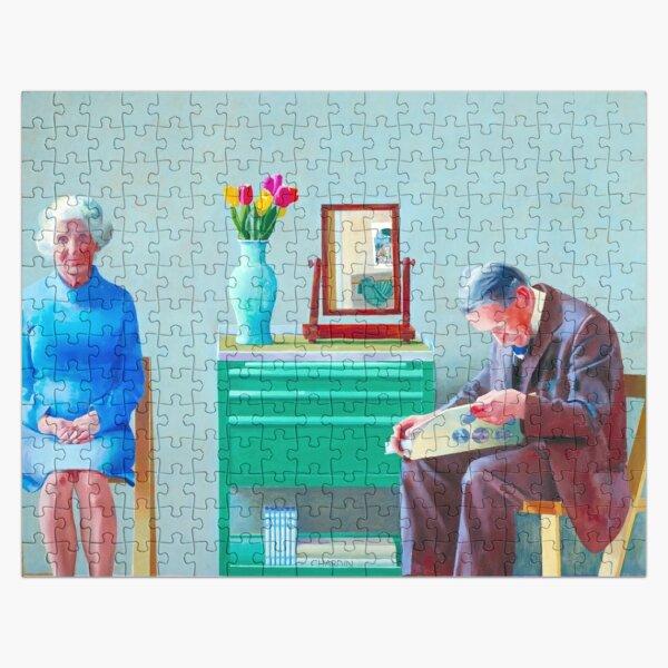 david hockney my parents painting Jigsaw Puzzle