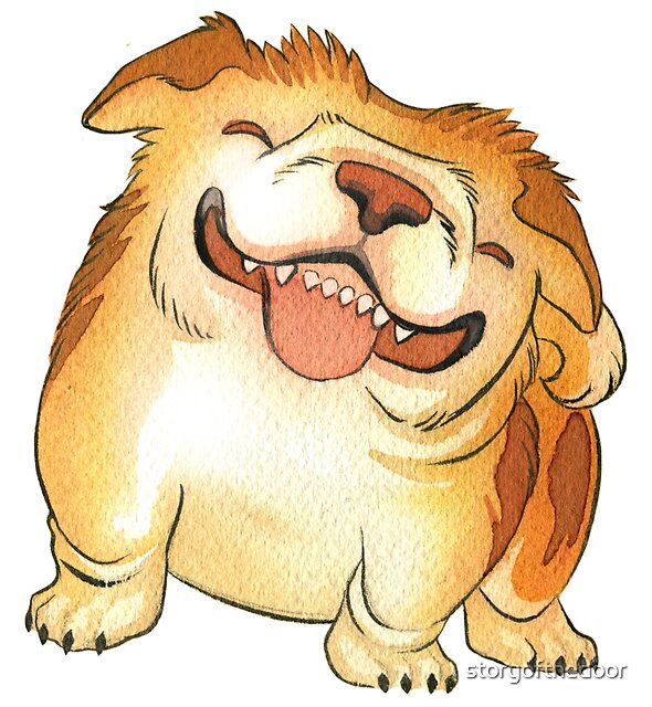 One Grinning Happy Bulldog by storyofthedoor