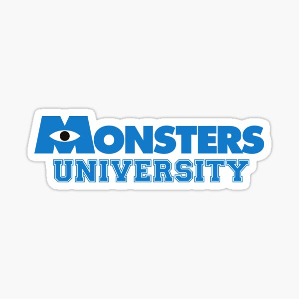 Universidad monstruo Pegatina