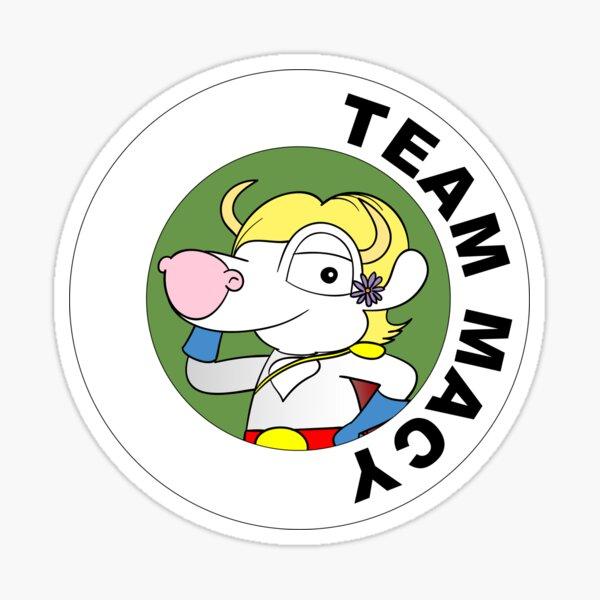 Team Macy sticker Sticker
