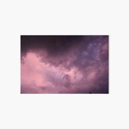 Magical cloud mood in purple in the evening sky. Photo. Art Board Print