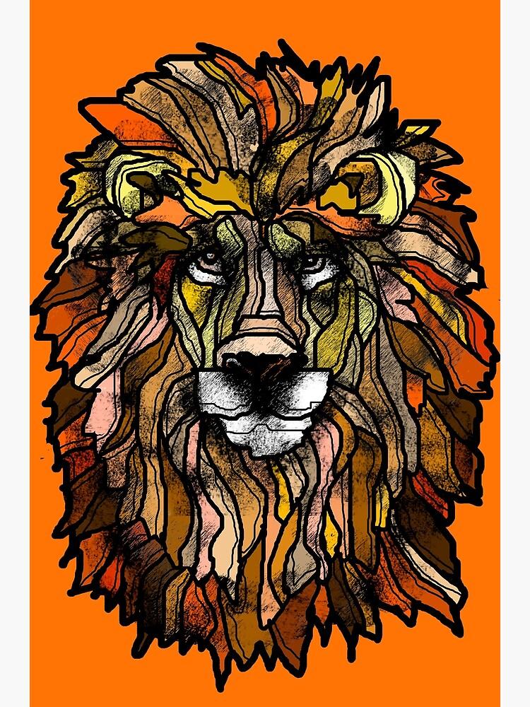 Orange lion by Packeredo