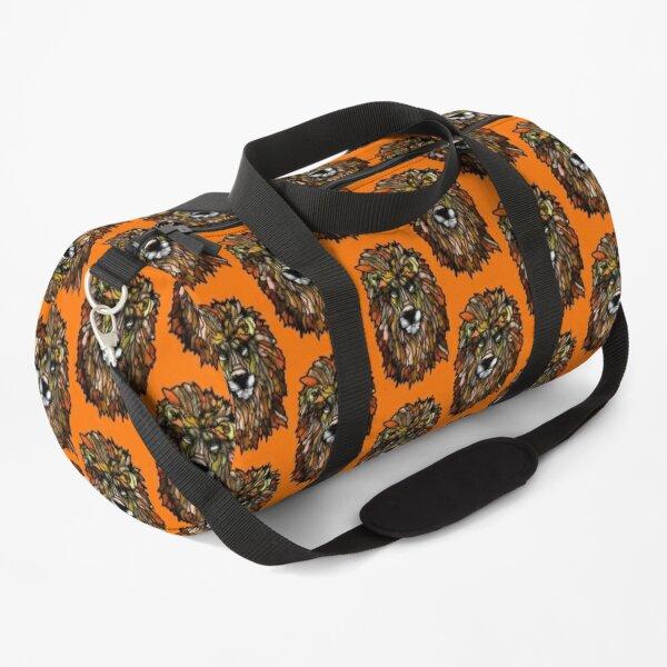 Orange lion Duffle Bag
