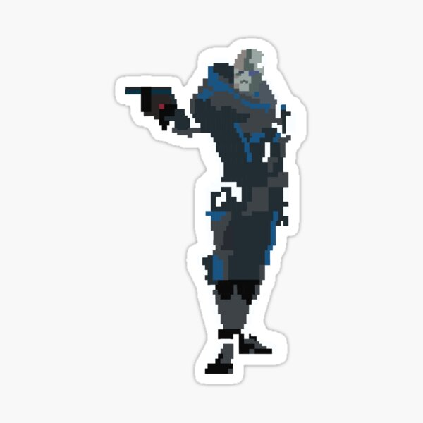 Retro Garrus Vakarian Sticker