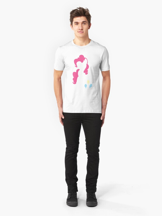 Alternate view of Pinkie Pie Silhouette  Slim Fit T-Shirt