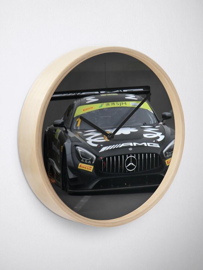 Alternate view of Mercedes AMG race car Clock
