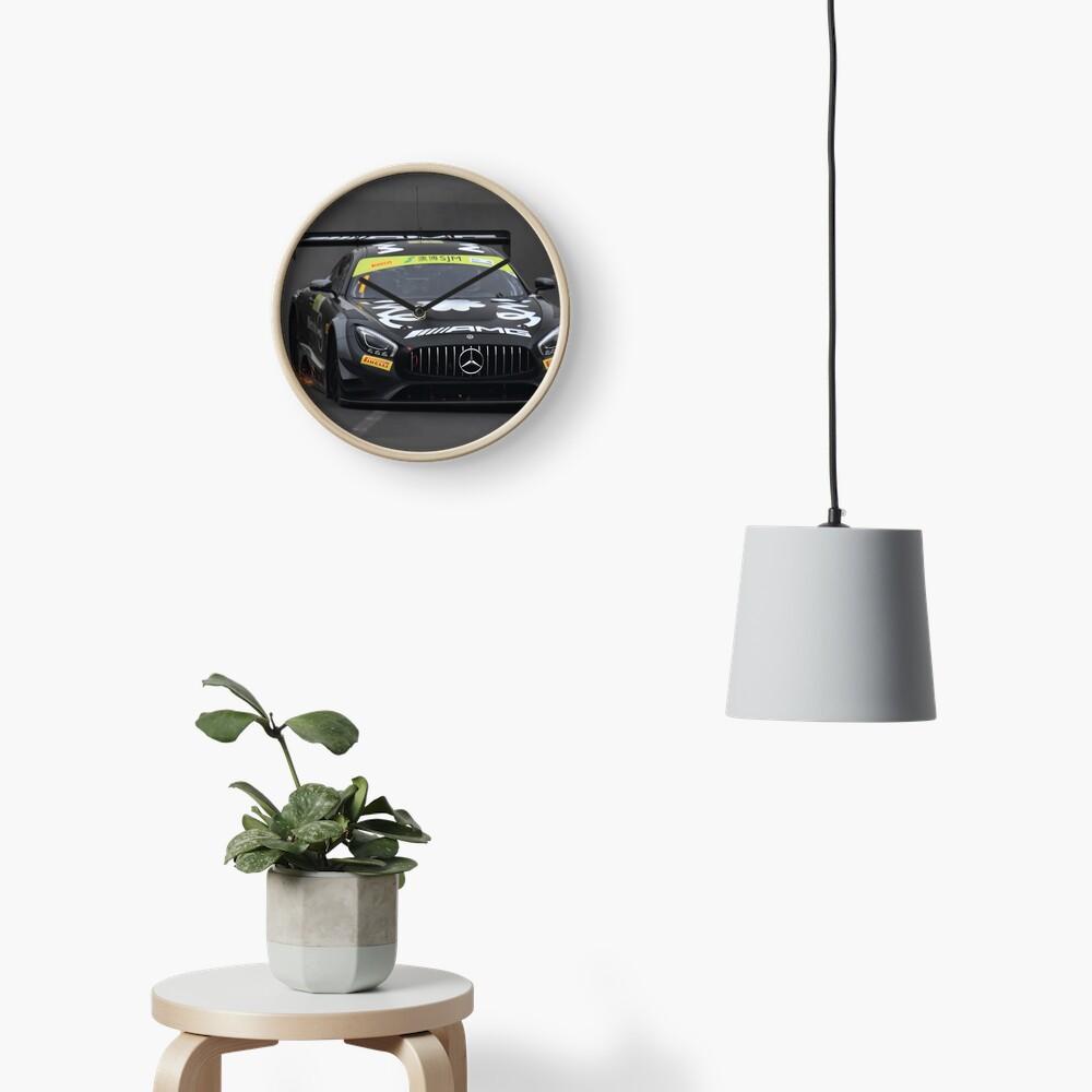 Mercedes AMG race car Clock