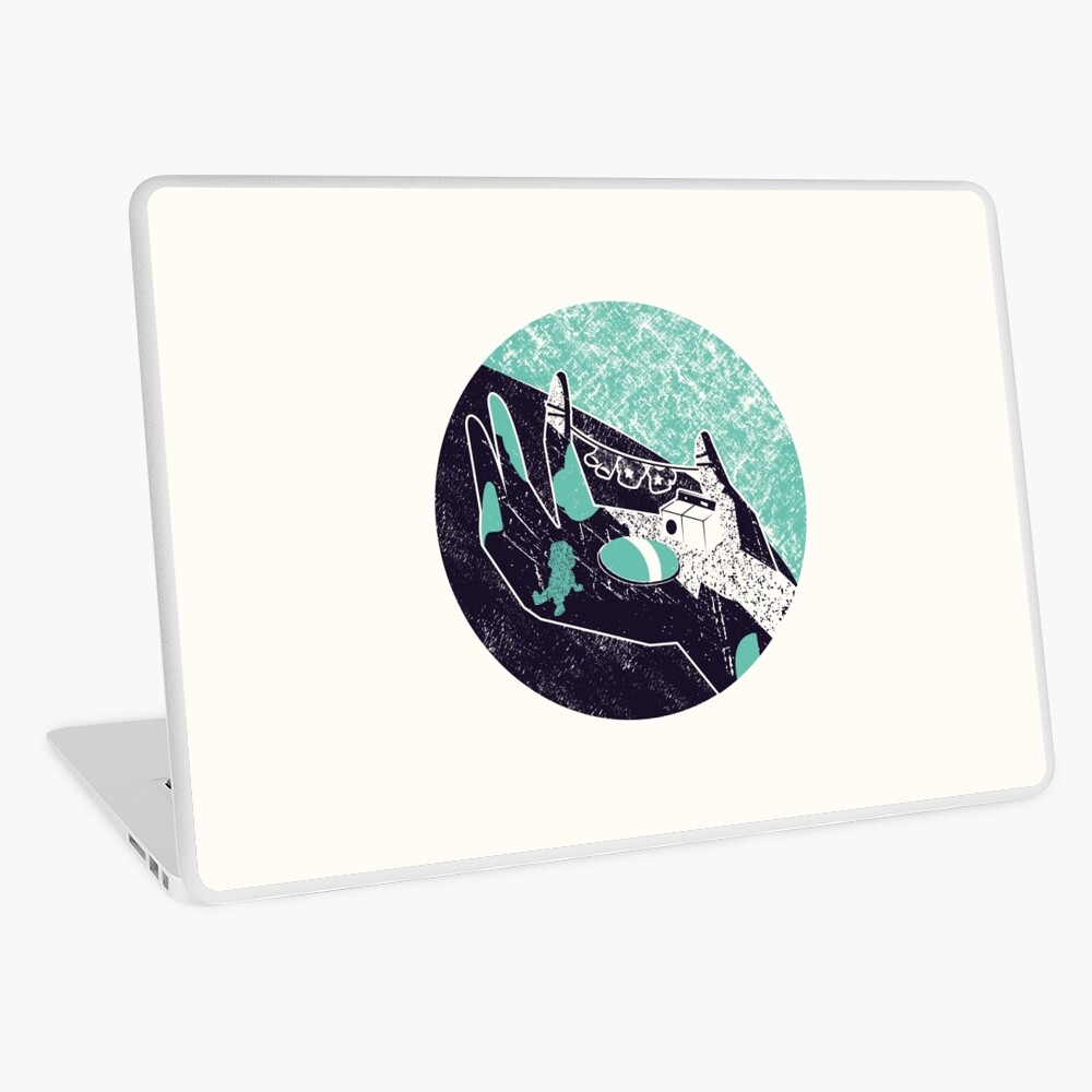 On the hand Laptop Skin