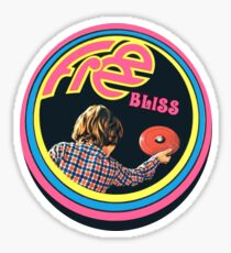 Pegatina Vintage Frisbee Decal 70's Sport Free bliss