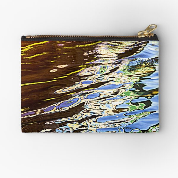 Abstract water reflection Zipper Pouch
