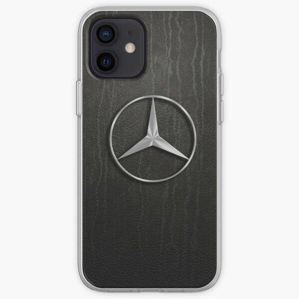 mercedes cuir Coque souple iPhone