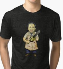 Leatherface Caricature Tri-blend T-Shirt
