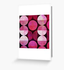 Round Red Greeting Card