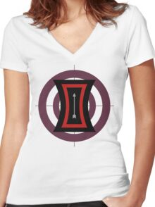 The Arrow of Their Love Women's Fitted V-Neck T-Shirt
